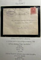 1929 Madrid Spain Mourning Cover To Barcelona Olive Oil Slogan Cancel
