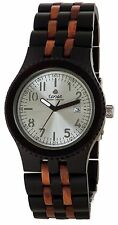 Tense Discovery Yukon Jumbo Round Two-Tone Watch J5200DR Silver -New with Tags