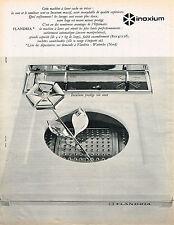 PUBLICITE ADVERTISING 094  1965   INOXIUM    acier pour machine à laver FLANDRIA