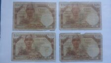 4x Billet Banknote Bill 100 Francs Trésor Public 1955 dont A1