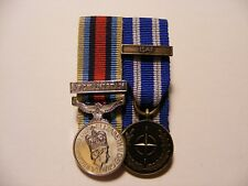 OSM Afghanistan, ISAF Miniature Medals Mounted