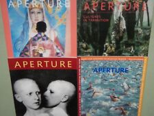 Lot of 4 APERTURE MAGAZINES 1990-2001 HTF Back Issues ART PHOTOGRAPHY