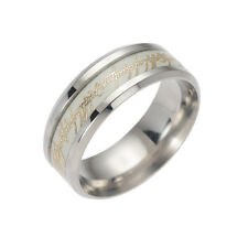Lord of the Rings Luminous Glow In The Dark Rings Titanium Steel Rings Size 6-13