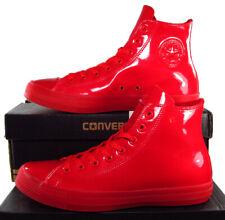 Converse Chuck Taylor All Star Hi Faux Patent Shiny Casino Red 153229C 11 Men