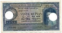 Portuguese India-Goa Rs 20 Vinte Rupia sign A4+P2 note British time 29-11-1945