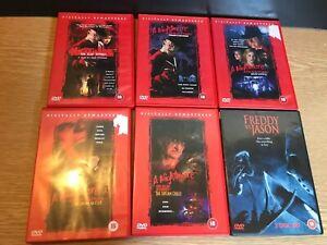 A Nightmare On Elm Street 1-5 + Freddie vs Jason DVDS R2 Pal Horror Slasher