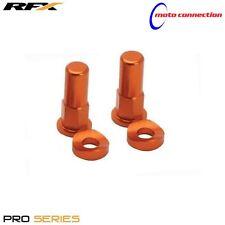 RFX PRO SERIES RIM LOCK NUTS & WASHERS ORANGE FOR KTM SXF250 SXF450 2008