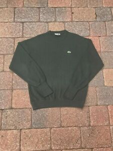 VINTAGE Chemise Lacoste Sweater Adult Large Green Pullover Crewneck Casual Logo
