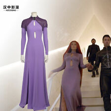 HZYM Inhumans Medusa Cosplay Costume Women Evening Party Dress Long Purple Dress