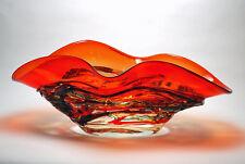 "BOWLS - MURANO GLASS RAVENNA CENTERPIECE BOWL - 22""L - ITALIAN ART GLASS"