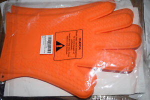 Kitchen Pal Heat Resistant Silicone BBQ Gloves Pot Holder Cooking Pair of Mitts
