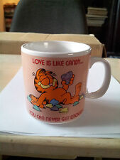 c1978 Enesco Mug: Garfield - Love Is Like Candy . You Can Never Get Enough