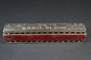 26 cm Mundharmonika Educator Bass Koch Harmonika 1.Hälfte 20.Jhd (CP196)