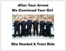 "Jail Prison Inmate Postcard ""Police Train"""