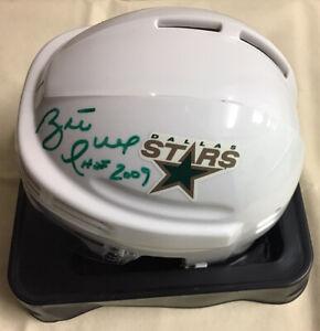 Signed Dallas Stars Mini Helmet Autographed By BRETT HULL HOF 2009