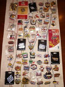 Nascar Racing Car Pin Lot of 70 Memorabilia Tacks Collection