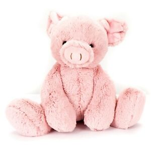 "Aurora Purely Luxe Pig Plush 9"" Pink Soft 2019 World Piglet Stuffed Animal Toy"