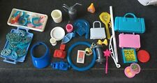 BARBIE ACCESSORIES LOT - SHOES HANGERS COMBS DISHES CLOTHES  - OVER 100 PIECES