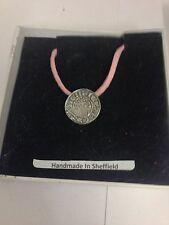 King John Penny WE-KJPCOIN Emblem on a pink Cord Necklace Handmade 41CM