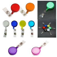 2X(Retractable Ski Pass ID Card Badge Holder Key Chain Reels With Clip Q6B7)