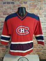 Vintage MONTREAL CANADIENS NHL Hockey Stitched JERSEY Youth Size Medium Canada