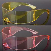 Futuristic Robocop Cyclops Outter Space Robot RAVE Shield Sunglasses Colors