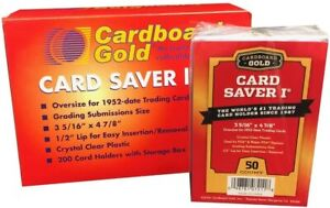 Cardboard Gold PSA Grade Card Saver 1  50 Ct - NEW Pack
