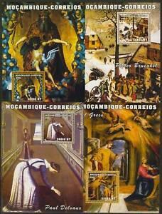 Mozambique 1489-1513 MNH Art, Music, Flowers, Religion