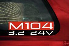 M104 3.2 24v autocollant. pour mercedes W124 320 ce, e320, w210 e320, w140 s320, 300 se