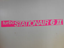 "NEW ORIGINAL 'WHITE' CESSNA ""TURBO STATIONAIR 6"" DECALS (PAIR). FREE SHIPPING!!!"