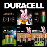 Duracell Rechargeable Batteries AA AAA C D 9V Ultra Plus NiMH Duralock Charge