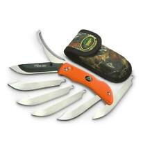 Outdoor Edge Razor Ro-20 Pro Orange Folding Knife with 6 Blades + Nylon Sheath