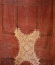Antique Victorian Wool Paisley Shawl 19th Century Repaired