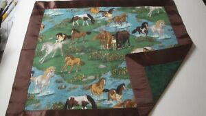 Wild Stallions Lovey w/Brown Satin Binding