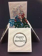 Beautiful Handmade Scooter Themed Pop Up Card