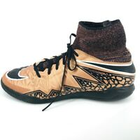 Nike Youth 5.5Y Metallic Bronze Hypervenomx Proximo Indoor Soccer Shoes Comfy