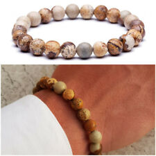 Bracciale uomo pietra braccialetto pietre dure naturali diaspro da con sfere