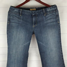3ae08c679ed89 New ListingSee Thru Soul Wide Flare Womens Size 30 in. Stretch Dark Wash  Low Rise Trouser