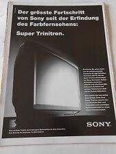 Publicité 1989 Sony téléviseur Super Trinitron AD