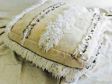 Vintage Moroccan Wedding Blanket Pouf/Floor Cushion Pillow. Handira. Wool