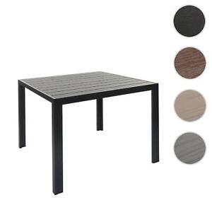Gartentisch HWC-F90, Tisch Esszimmertisch, WPC-Tischplatte 76x90x90cm