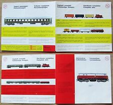 DEPLIANT RIVAROSSI Impianti Completi, Locomotive, Vagoni Passeggeri - RARO*