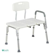 Portable Bathroom Shower Chair Movable Medical Safety Transfer Bath Tub Seat