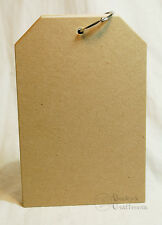 """5.5""""x 8.5"""" Chipboard Tag Album 8 pages (=16 sides) 1 ring"""