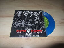 """GUITAR SLINGERS The Fly with the X-Ray Eyes 7"""" BLUE Vinyl Psychobilly Rockabilly"""