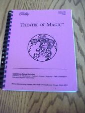 Bally Theatre of Magic Pinball machine Owners Manual Instructions & Schematics