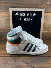 Adidas Original Top Ten Hi Mens Basketball Shoes White Green Orange EF2516- NEW
