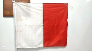 OLD VINTAGE NAUTICAL MARINE SHIP COUNTRY & SIGNAL FLAG USED FLH3
