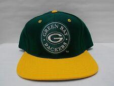 VTG NWOT NFL Green Bay Packers Baseball Hat Cap by AJD Snapback Flat brim