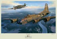 A Higher Call Art Print Franz Stigler Charlie Brown WWII B-17 Bf-109 Luftwaffe